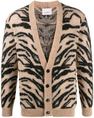 Laneus animal knit cardigan