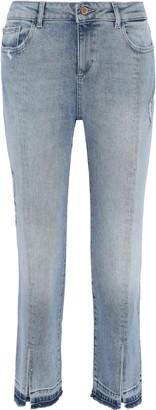 DL1961 Mara Distressed Mid-rise Kick-flare Jeans