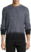 Vince Cashmere-Blend Ombré Sweater, Black Combo