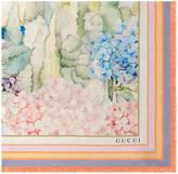 Gucci Hydrangea print silk scarf