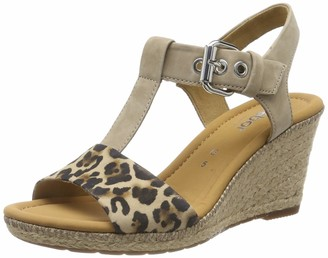 Gabor Shoes Women's Comfort Sport Ankle Strap Sandals Beige (Natur/Silk(Jute/N) 90) 4 UK