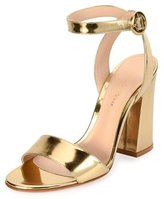 Gianvito Rossi Tandi Metallic Ankle-Wrap 100mm Sandal, Gold