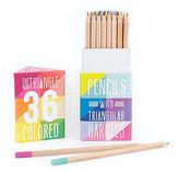 NEW International Arrivals Triangular Coloured Pencils Set 36p