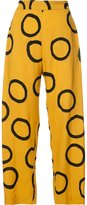 Vivienne Westwood ring print cropped trousers - women - Viscose - 38