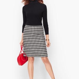 Talbots Wool Blend A-Line Skirt - Check