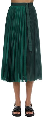 Sacai Pleated Satin Skirt