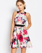 Ted Baker Samra Floral Print Dress with Buckle Straps