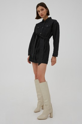 C/Meo CONTINGENT DRESS Washed Black Denim
