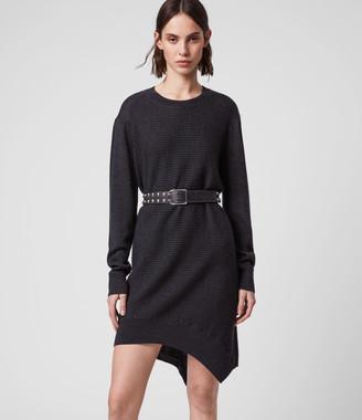AllSaints Baya Merino Wool Dress