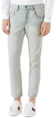 Gucci Bleached Light Skinny Jeans