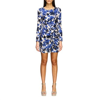 Moschino Dress Dress In Floral Patterned Crêpe