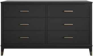 CosmoLiving by Cosmopolitan Westerleigh 6 Drawer Chest - Black/Gold