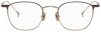 Issey Miyake Gold and Brown Wellington 3 Glasses