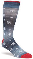 Daniel Cremieux Space-Dyed Snowflake Crew Socks