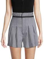 KENDALL + KYLIE Belted Gingham Shorts