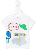 Fendi space print T-shirt - kids - Cotton - 12 mth