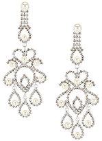 Cezanne Pearl Filigree Chandelier Earrings