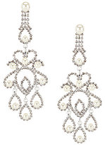 Cezanne Pearl Filigree Chandelier Statement Earrings