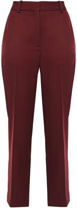 Victoria Victoria Beckham Cropped Wool-twill Straight-leg Pants