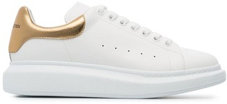 Alexander McQueen Gold Foil Embellished Chunky Leather Sneakers