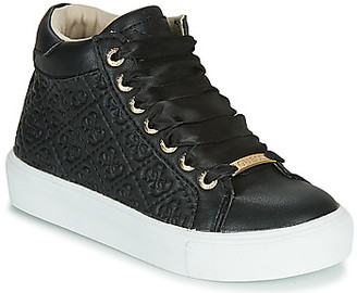 GUESS MISSY HI girls's Shoes (High-top Trainers) in Black
