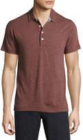 Billy Reid Grant Melange Polo Shirt, Maroon
