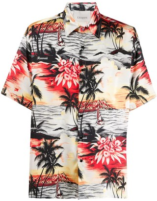 Laneus Hawaiian printed shirt