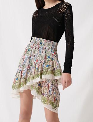 Maje Bucolic skirt with ruffles and smocks