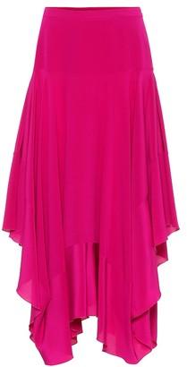 Stella McCartney Poppy silk crApe de chine skirt