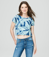 Prince & Fox Palm Fronds Cropped Marine Tee