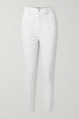 Isabel Marant Nadeloisa Paneled High-rise Tapered Jeans - White