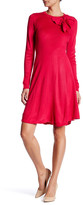 Eliza J Long Sleeve Bow Empire Waist Dress