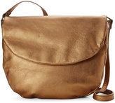 Corsia Bronze Leather Flap Saddle Bag