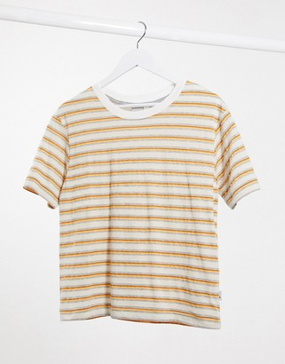 Quiksilver Fluids Striped t-shirt in orange