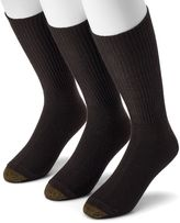 Gold Toe Extended Size GOLDTOE 3-pk. Fluffies Crew Socks