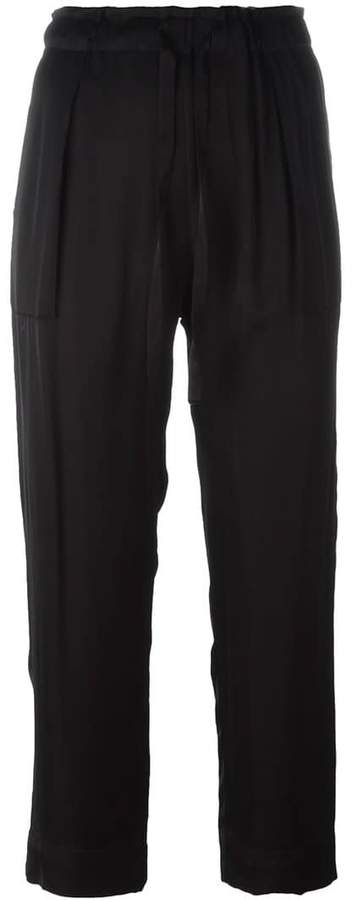 Raquel Allegra drawstring cropped trousers