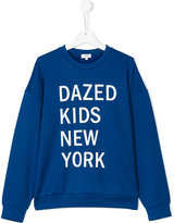 DKNY Teen dazed kids New York print sweatshirt