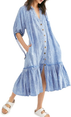 Free People Maya Midi Shirtdress