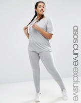 Asos LOUNGE 2 Piece Basic T-Shirt & Legging Set