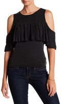 Ten Sixty Sherman Cold Shoulder Ruffle Blouse