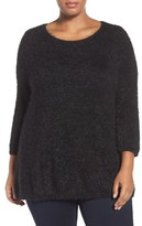 Sejour Plus Size Women's Eyelash Knit Sweater