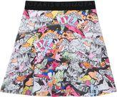 Kenzo Girls Cartoon Print Skater Skirt