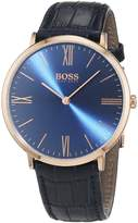 HUGO BOSS Men's 1513371 Leather Quartz Watch