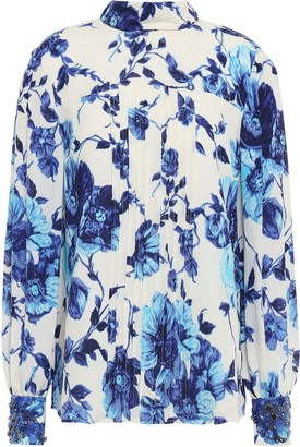 Tory Burch Pintucked Silk-georgette Shirt