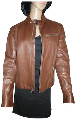 Ralph Lauren Brown Leather Leather Jacket for Women