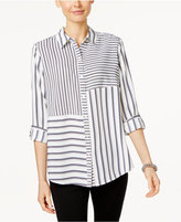 Charter Club Petite Mixed-Stripe Shirt, Only at Macy's