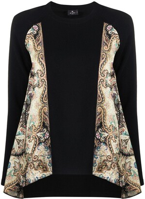 Etro Scarf-Panelled Jumper
