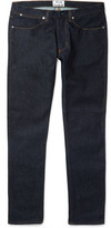 Acne Studios Max Raw Slim-fit Stretch-denim Jeans - Indigo