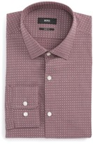 BOSS Men's Mark Sharp Fit Dobby Dress Shirt