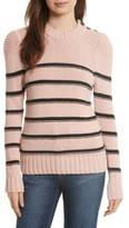 Rebecca Taylor Women's Stripe Cotton & Merino Wool Sweater